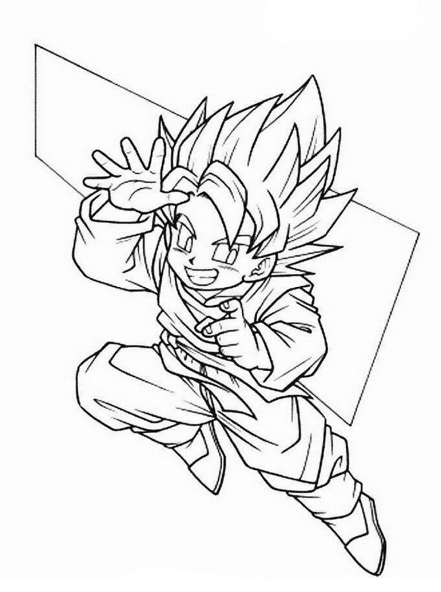 Disegni Dragon Ball Z Da Colorare 10