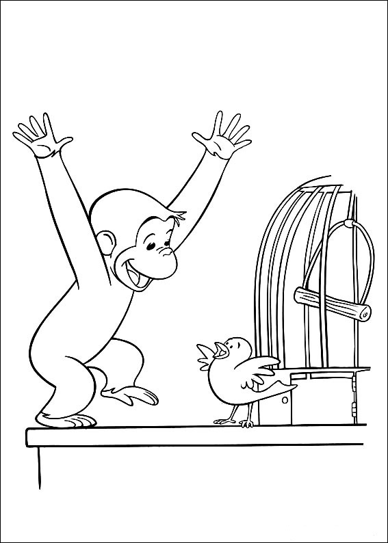 Coloring Book Pages Curious George