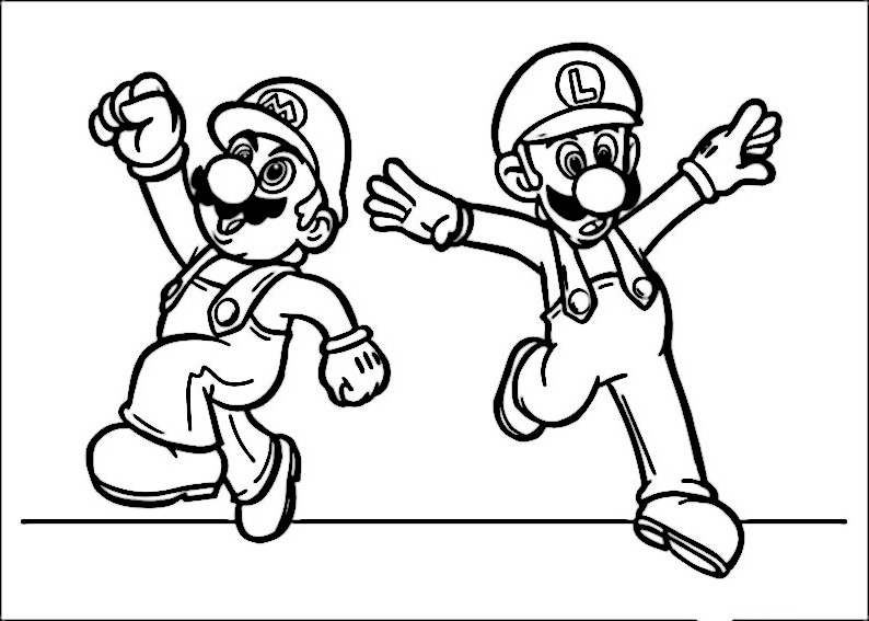 Mario Bros Da Colorare Stampae Colorare